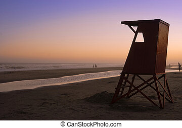 Sunset summer time
