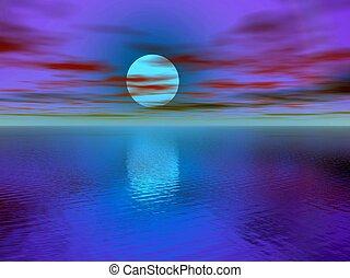 Sunset, sunrise. - A sunset, sunrise in a tropical place,...