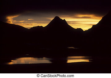 Sunset - The view in Tibet