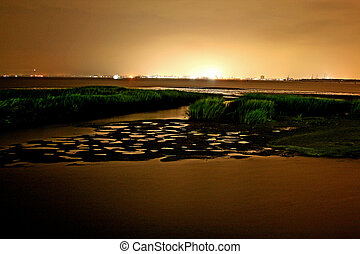 Sunset - Tidal Marsh in Mt Pleasant South Carolina ...