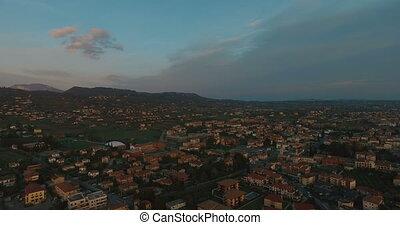 Sunset Time Aerial Skyline Panoramic View of Venice...