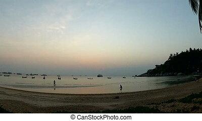Sunset time-lapse near the sea