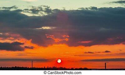 sunset, time-lapse