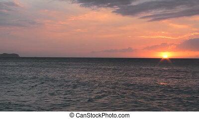 Sunset time on Boracay island