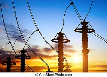 Sunset time substation