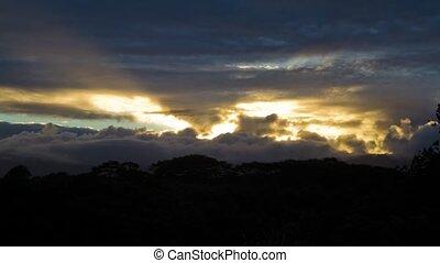 Sunset, Timelapse, Kauai, Hawaii - Time lapse shot from the...