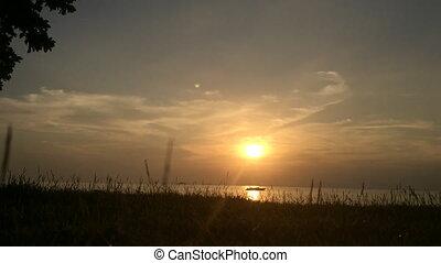 Sunset timelapse on a beach
