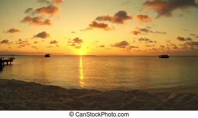 Sunset timelapse on Indian Ocean