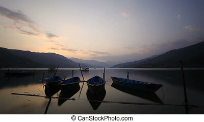 Sunset timelapse Phewa lake - Sunset timelapse at Phewa lake...