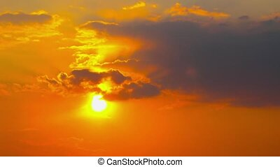 sunset, timelapse