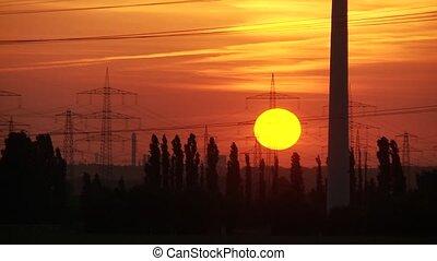 sunset timelpase