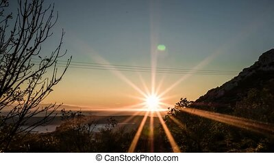 Sunset To Night Time Lapse - Starry Night