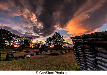 Sunset Trenches and bunkers thailand