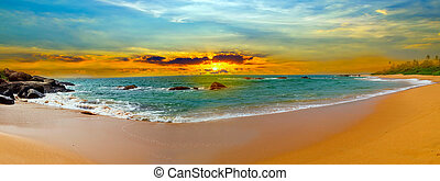 Sunset tropical over sea Time to rest