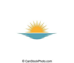 Sunset vector illustration Icon Logo Template