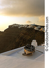 Sunset view in Santorini island