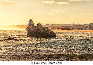 Sunset view of a beach