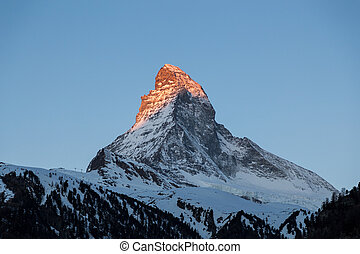 Sunset view of the Matterhorn