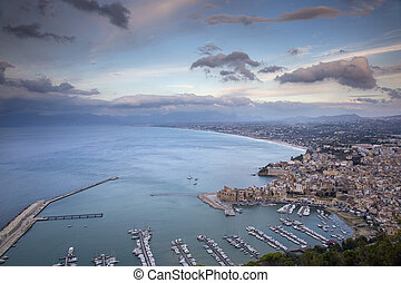 castellammare del golfo and the coast of sicily, italy