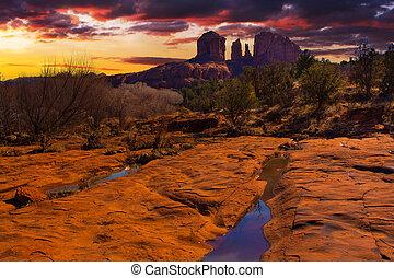 Sunset Vista of Sedona, Arizona - Nice Sunset Image of ...