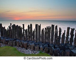 Sunset wadden sea Netherlands