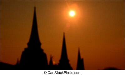 Sunset Wat Chaiwatthanaram