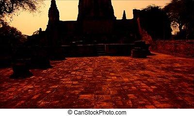 Sunset Wat Chaiwatthanaram