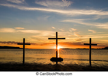 Sunset Water of Calvary