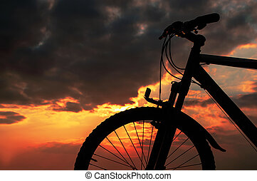 Sunset with a Bicycle
