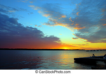 Sunset with a Dock