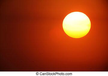 large sun - Sunset with a large sun