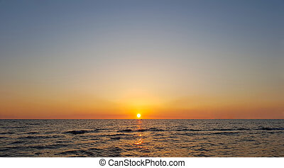 Sunset with beautiful sky over the ocean