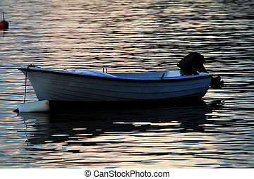 Sunset with boat
