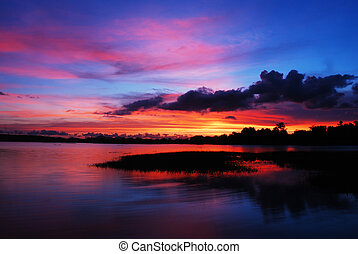 Sunset with colorful sky