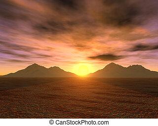 sunset_mountains