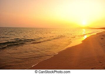 sunset/sunrise on the beach