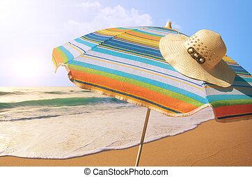 Sunshade and Straw Hat