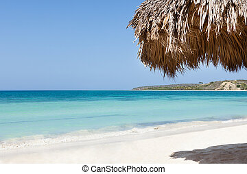 Sunshade At Beach With Ocean View