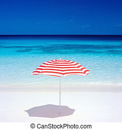 sunshade, Seychelles - sunshade, Petite Anse, Mahe, ...