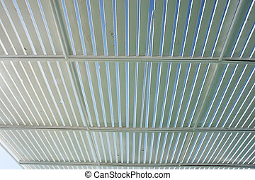 Sunshade - wooden sunshade roof on a ship