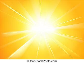Sunshine - Abstract Background Illustration, Vector
