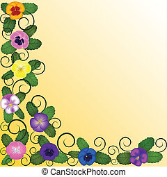 sunshine background with pansies
