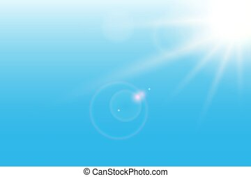 Sunshine blue background. Vector illustration.