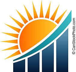 Sunshine Finance Bar Results Vector illustration