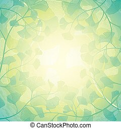 Sunshine floral background. Vector illustration with...