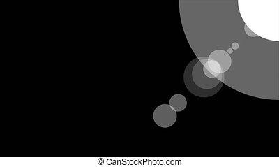 Sunshine icon animation with black background. Icon design....