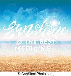 Sunshine is the best medicine card