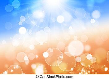 Sunshine Lights - sunshine blue and yellow summer background...