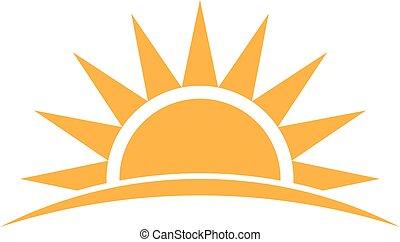 Sunshine logo. Vector graphic illustration