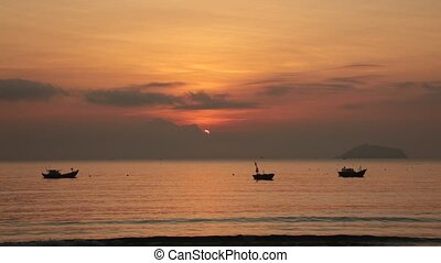 Sunshine Morning Sky Vietnam - A fiery orange morning...